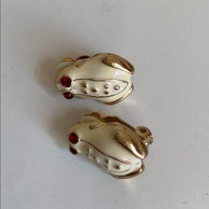 Kenneth Jay Lane Jewelry - Frog clip on earrings